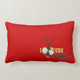 I Love You S'more than Ever - Camper Love Throw Pillow