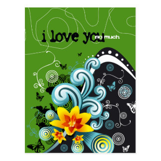 i love you so much 4 postcard