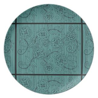 I Love You So Much Line Art Design Dinner Plate