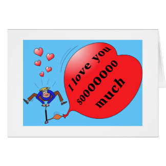 """""""I love you so much"""" notecard Greeting Cards"""