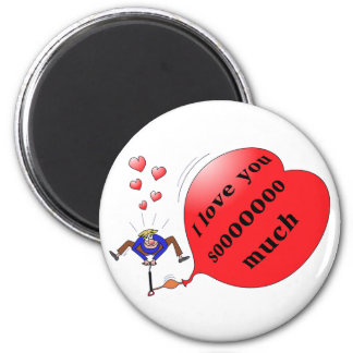 """""""I love you so much"""" printed magnet"""