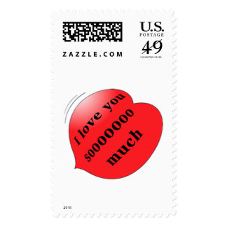 """""""I love you so much"""" stamp"""
