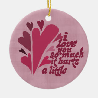 I love you so much Valentine Double-Sided Ceramic Round Christmas Ornament