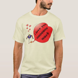 """I love you soo much"" printed T-shirt"