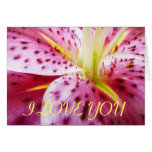 I Love You Stargazer Lily Card