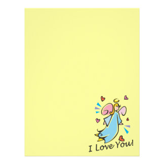 I Love You Stationery Letterhead