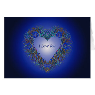 I Love You Straight From the Heart Card