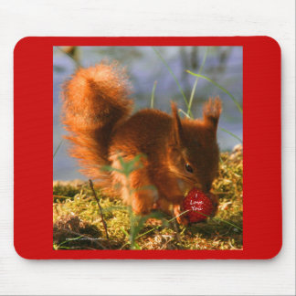 I Love You Strawberry Mouse Pad