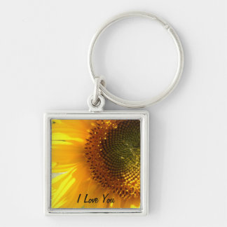 I Love You Sunflower Keychain