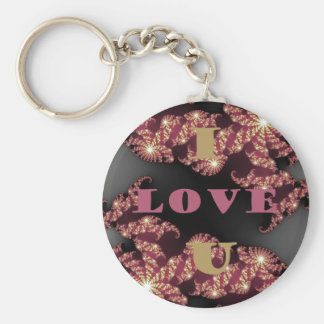 I Love You Sweetheart Basic Round Button Keychain