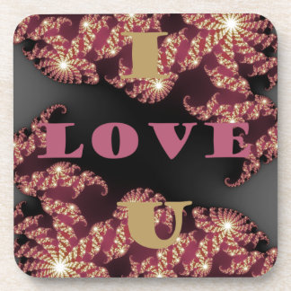 I Love You Sweetheart Coaster