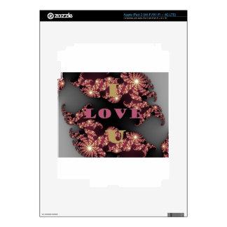 I Love You Sweetheart Decal For iPad 3