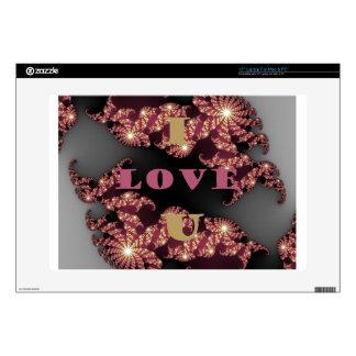 I Love You Sweetheart Laptop Skins