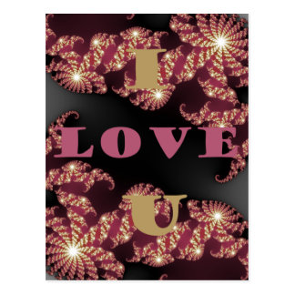 I Love You Sweetheart Postcard