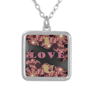 I Love You Sweetheart Silver Plated Necklace