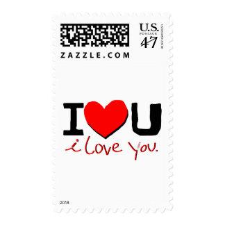 i  love you symbol postage