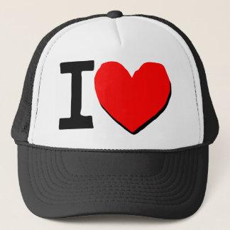 i  love you symbol trucker hat