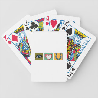 I Love You Symbols Bicycle Playing Cards