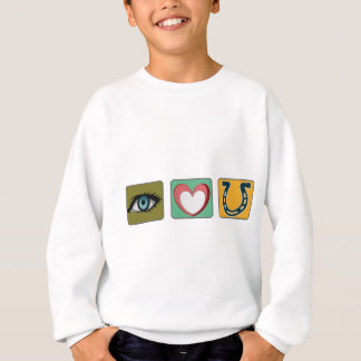 I Love You Symbols Sweatshirt