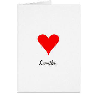 I Love You Szeretlek Card Valentine' s Day