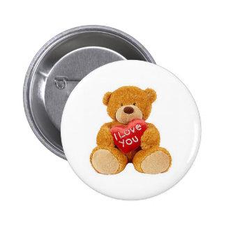 I Love You teddy bear Pin