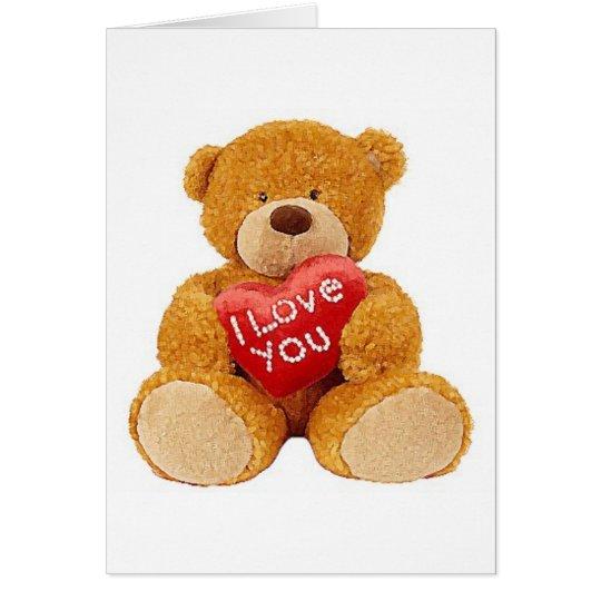I Love You teddy bear Card