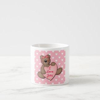 I Love You Teddy Bear Espresso Cup