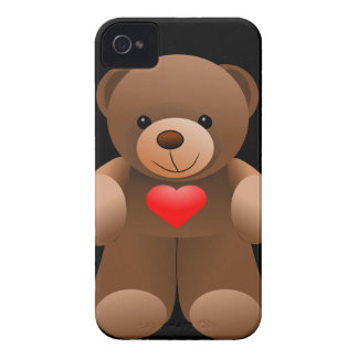 I Love You Teddy Bear iPhone 4 Case