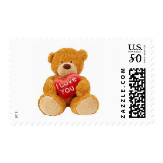 I Love You teddy bear Postage