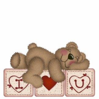 I Love You Teddy Bear - Sculpture photosculpture