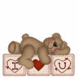 I Love You Teddy Bear - Sculpture Standing Photo Sculpture