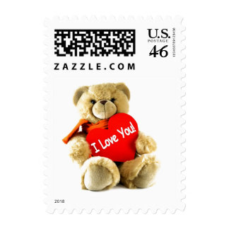 I love you teddy love by healing love by healing postage