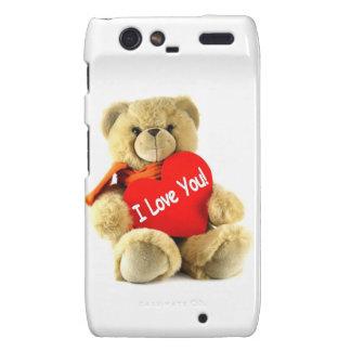 I love you, teddy love, by healing love motorola droid RAZR case