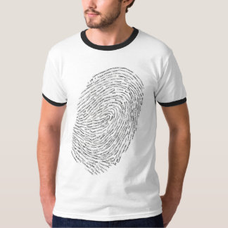 I love you text design in thumbprint seal T-Shirt