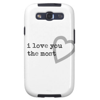 i love you the most cute heart galaxy SIII cases