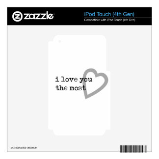 i love you the most cute heart iPod touch 4G skin