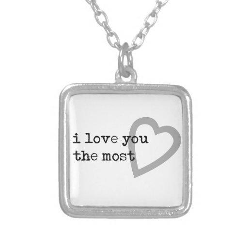Amazon.com: i love you more necklace