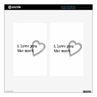 i love you the most cute heart kindle fire decals