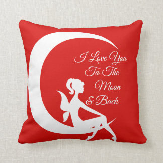 """""""I Love You"""" themed pillow"""