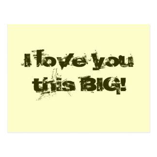 I Love You This Big! Postcard