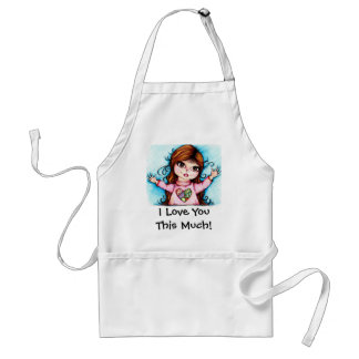 I Love You This Much! Adult Apron