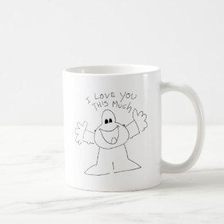 I love you this much! coffee mug