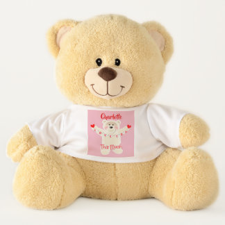 I love You This Much Cute Personalized Teddy Bear