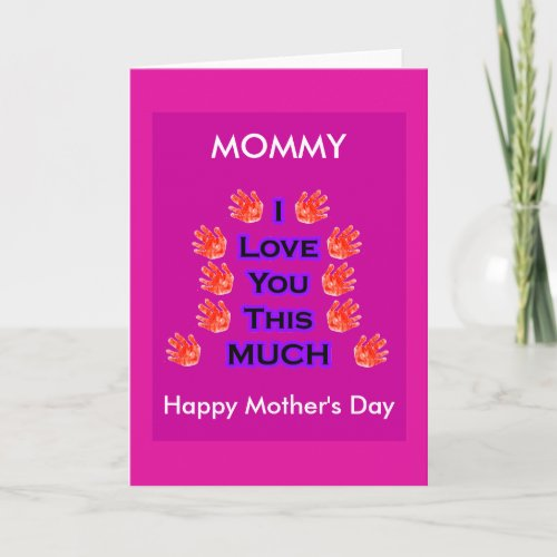 I Love You This MUCH Mother's Day Gift PurpleBk2 card