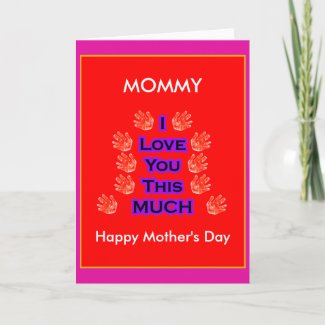 The MUSEUM Artist Series I Love You This MUCH Mother's Day Gift PurpleBlack card