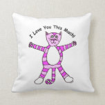 """""""I Love You This Much"""" Pinky Cat Pillows"""