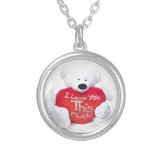 I Love You This Much Silver Plated Necklace at Zazzle