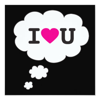 i love you thought bubble card
