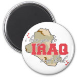 I Love You To Iraq And Back! Fridge Magnet