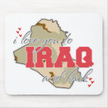 I Love You To Iraq And Back! Mousepads